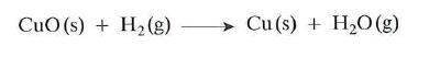 reaccion del hidrogeno con oxidos metalicos