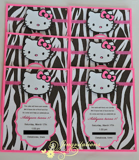 hello kitty zebra invitations