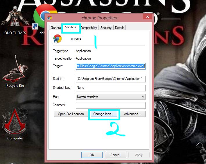 how to change pinterest icon on desktop