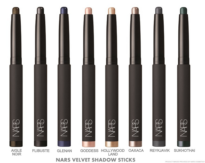 NARS Fall 2015 Private Screening Makeup Collection Swatches Velvet Shadow Sticks Aigle Noir Flibuste Glenan Goddess HollywoodLand Oaxaca ReykJavik Sukhothai