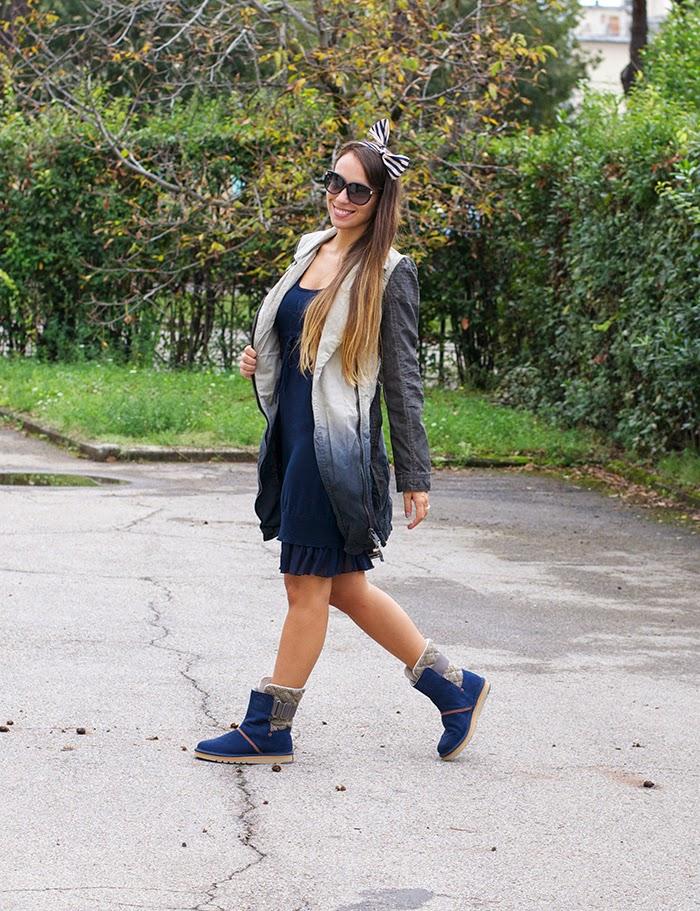 outfit toni blu