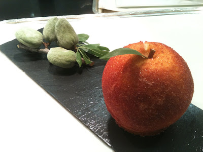 Laurent Jeannin at the Bristol Hotel. Sugar crust cooked peach