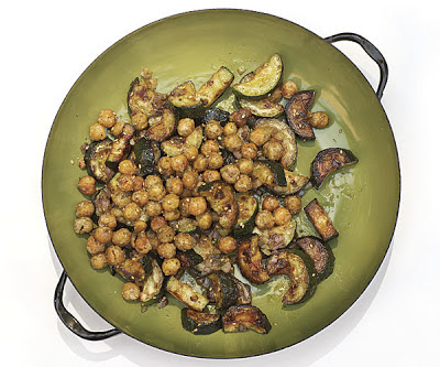 Sautéed Zucchini With Za'Atar And Crispy Chickpeas Recipe