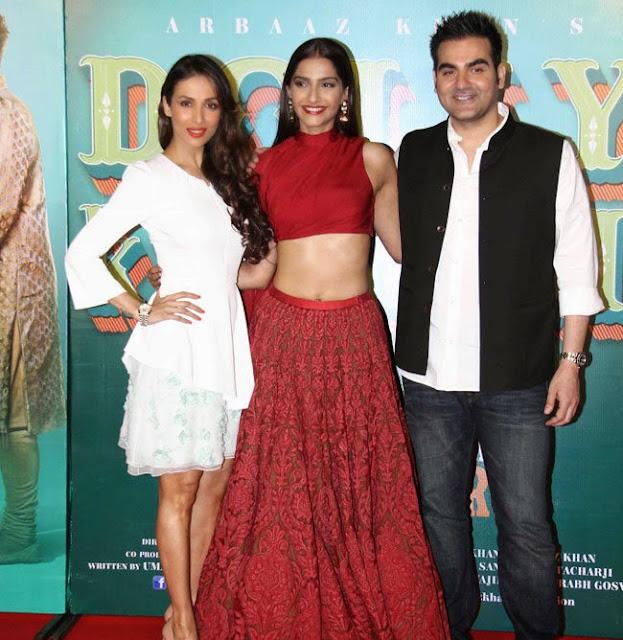 Sonam Kapoor in Lovely Red Choli ghagra at Dolly ki Doli Trailer Launch