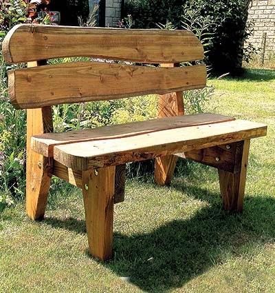 Celtic forest - Handmade wooden garden benches ...