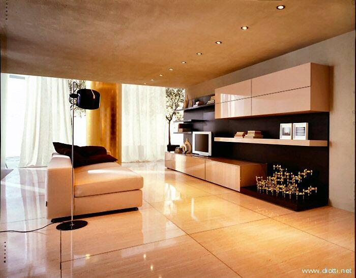 Decoraci n de salas modernas en beige y crema ideas para - Colores de baldosas ...