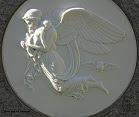 Bevingede vesen av papir og marmor er også fint - printed and marble angels