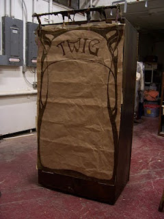 The actual full-size TWIG Theatre cart