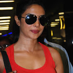 Priyanka Chopra Super Sexy In Tight Red Top and Jeans At The Mumbai Airport