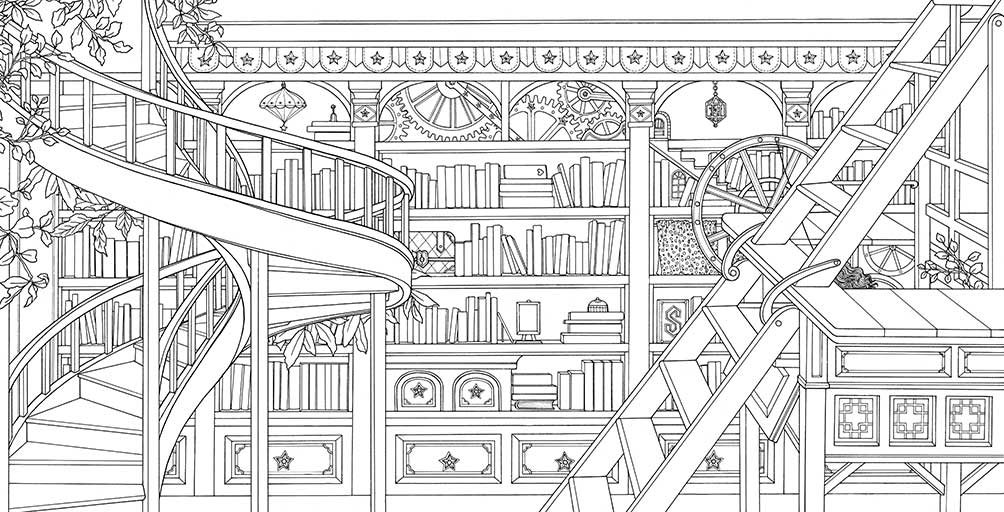 Mystery Playground: The Time Chamber Coloring Book