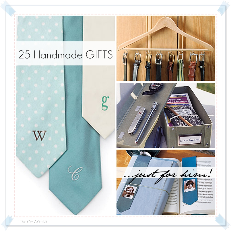 21 handmade gifts for men the 36th avenue for Easy gifts for men