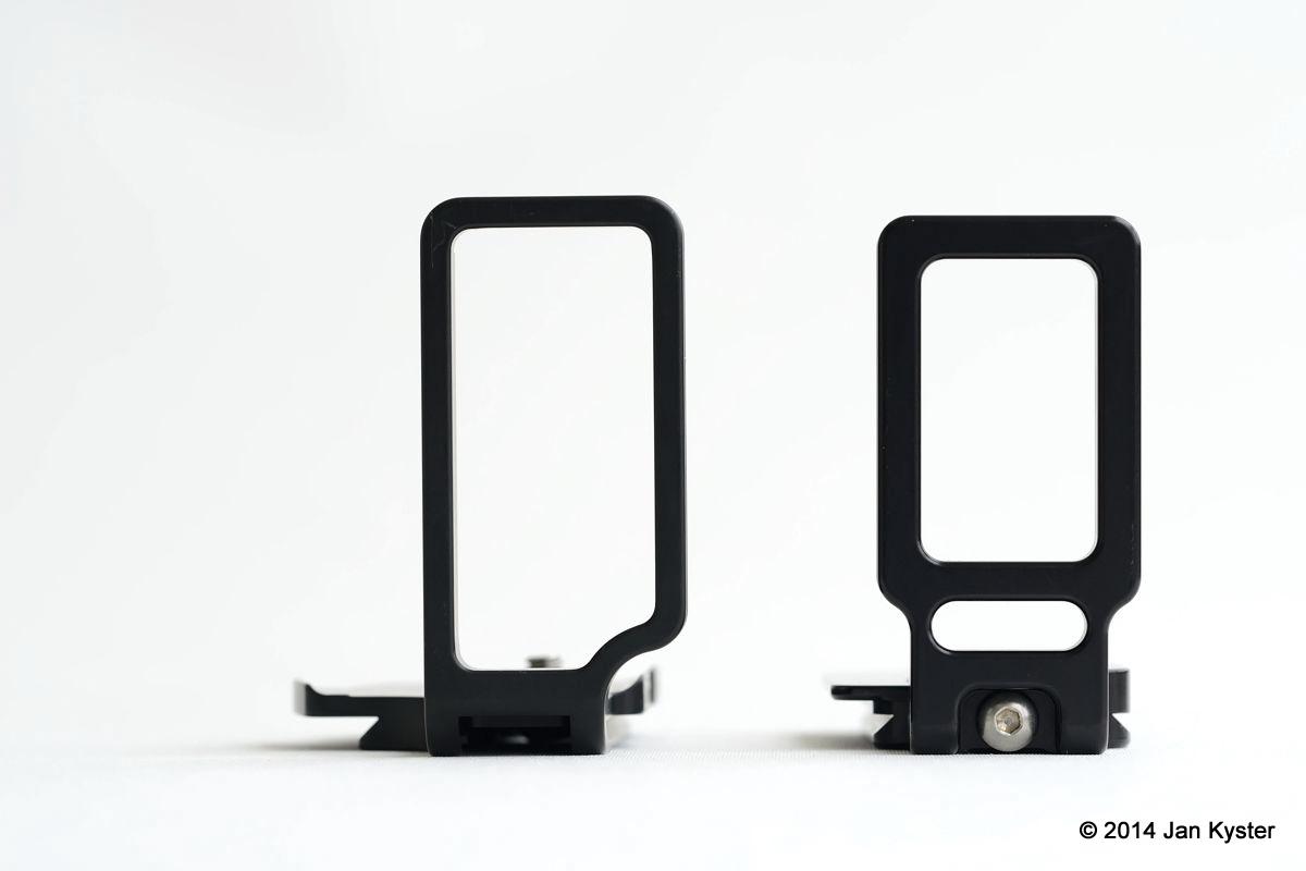 Markins LN-800 vs. Hejnar ND800 vertical sides view