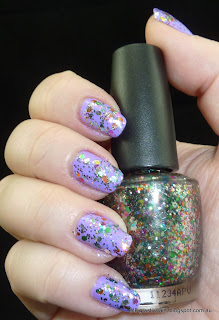 OPI Rainbow Connection over Picture Polish Wisteria