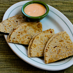 Baby Kale and Mozzarella Quesadillas with Sriracha-Ranch Dipping Sauce ...