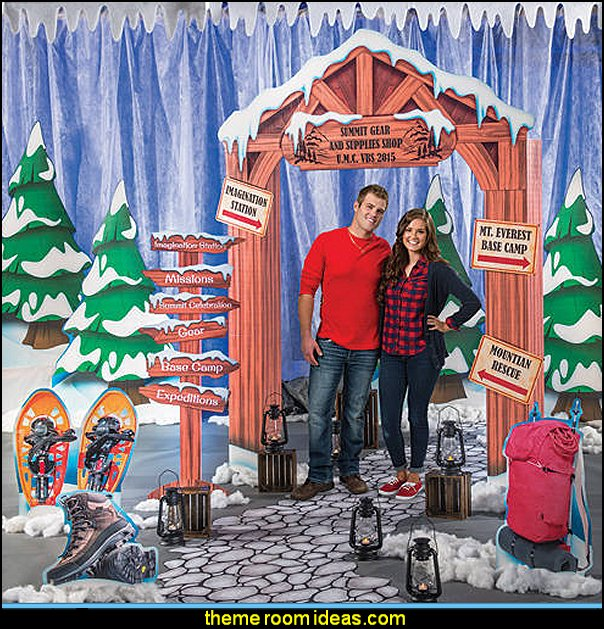 Mighty Mountain Gear Shop Kit winter theme party decorating props winter theme props winter themed party decorations