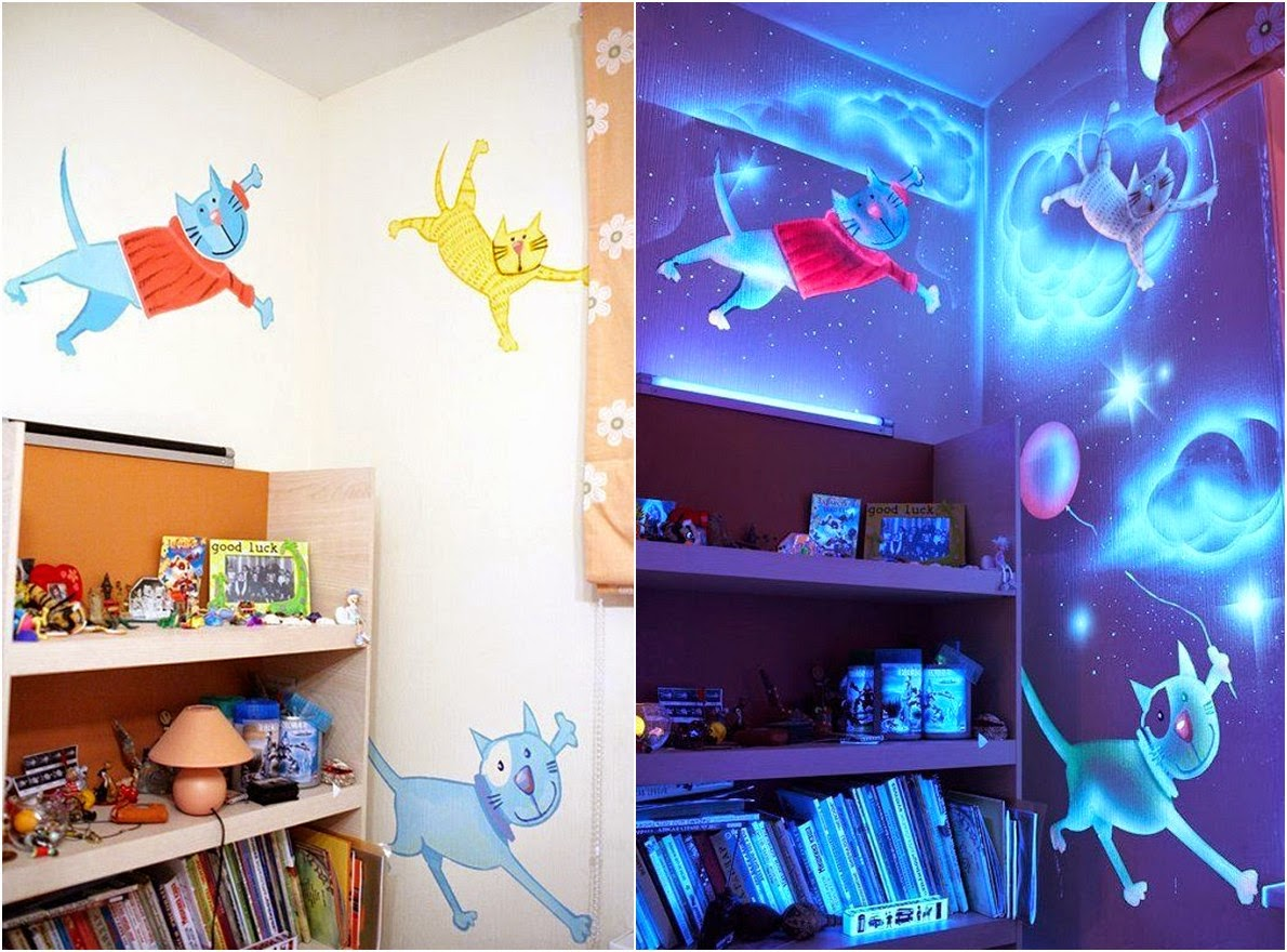 Diy glow in the dark paint wall murals diy craft projects for Diy photo wall mural