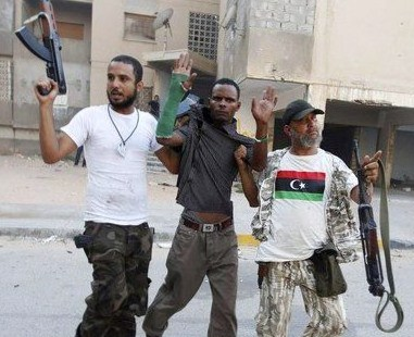 US Backed Terrorists Mass Murder Unarmed Civilians in Syria LibyaRebelsRoundingUpBlacks2