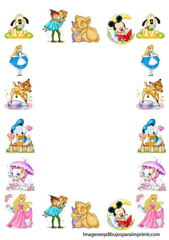 Disney Character Borders disney page borders related keywords ...