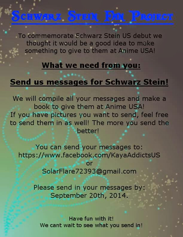 Schwarz Stein Fan Project for  Anime USA!