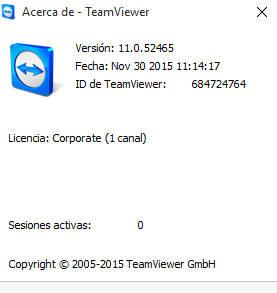 TeamViewer Versión 11.0.5 Profesional Español