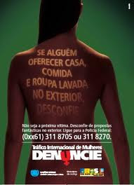 Cuidado: Mulheres traficadas