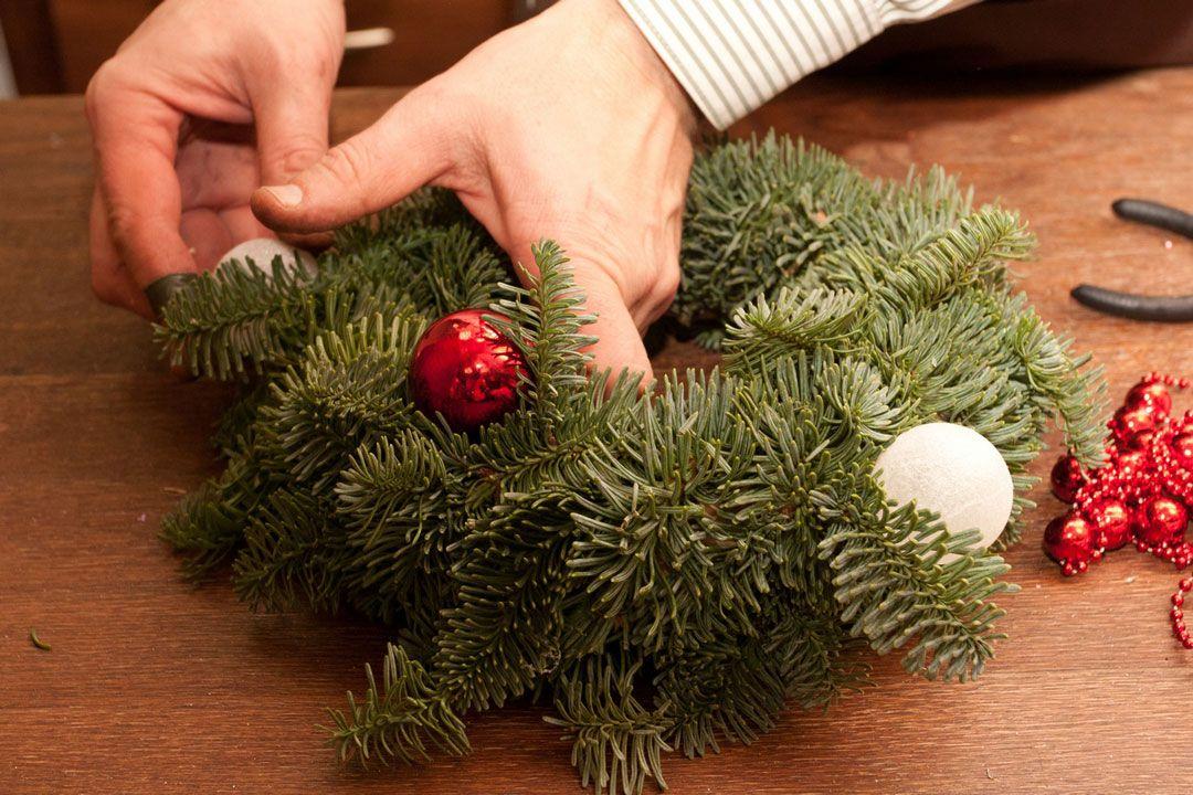 Сделать рождественский венок своими руками пошагово
