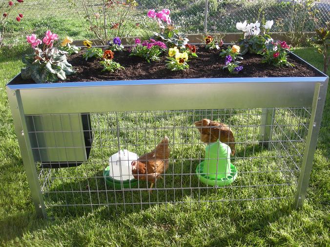 Plantamer dos en uno plantas y gallinero for Gallinero jardin
