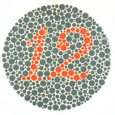 Prueba de daltonismo - Carta de Ishihara 1