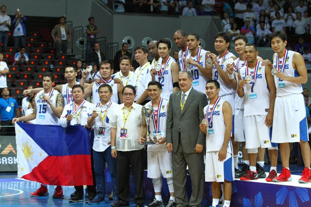 Smart Gilas Pillipinas at the awarding ceremony of the 27th FIBA Asia Championship