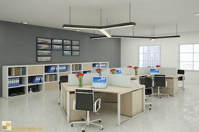 Thiết kế nội thất văn phòng sáng tạo, độc đáo