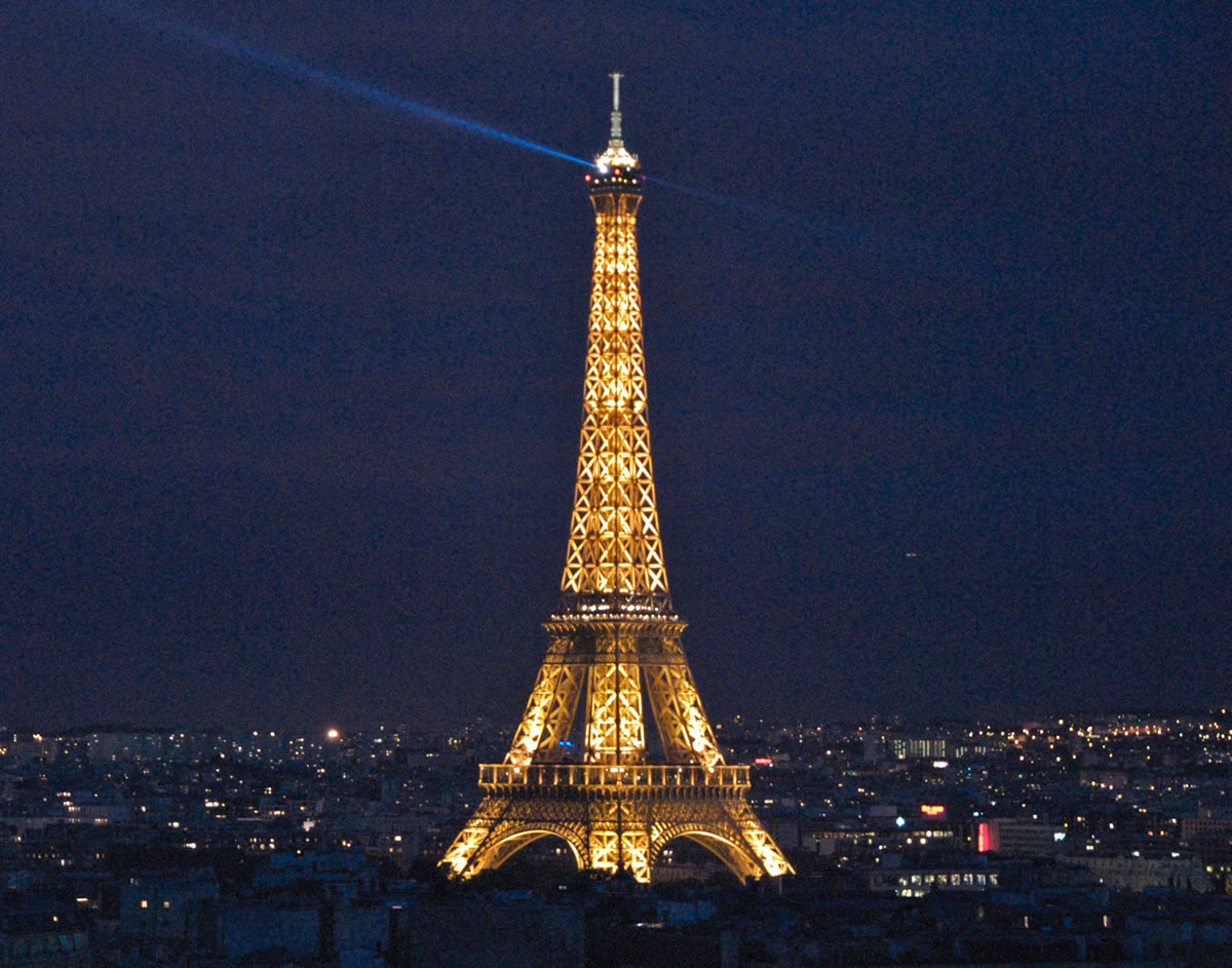 Eiffel tower at night beauty of eiffel tower at night