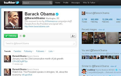 Twitter do Barack Obama