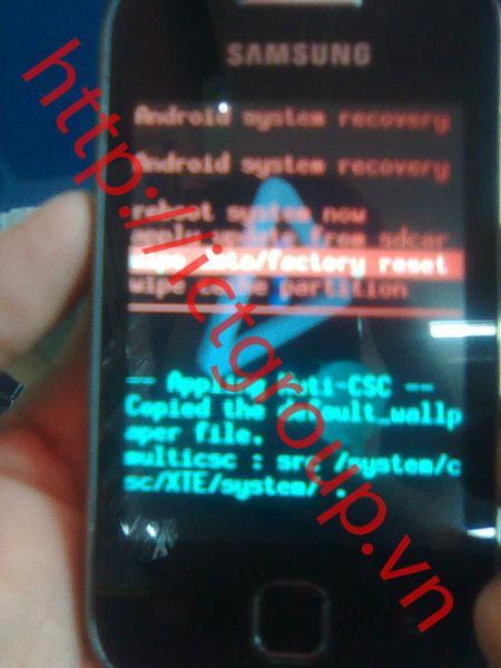 Bẻ mật khẩu mở mã bảo vệ Samsung Galaxy Y (GT s5360)