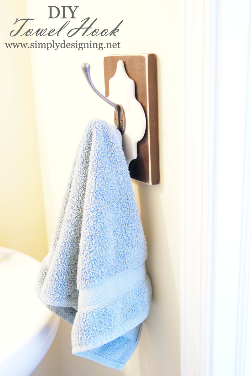 Diy Vintage Towel Hook Homedecor Homeimprovement Bathroom