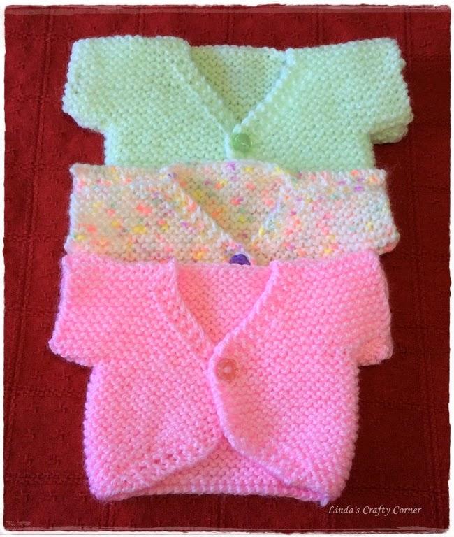 Free Knitting Patterns For Preemie Blankets : .Lindas Crafty Corner: Sweet Little Tops.