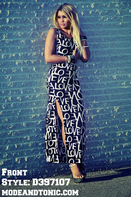 "Mode and Tonic: ""Love"" Maxi Dress"