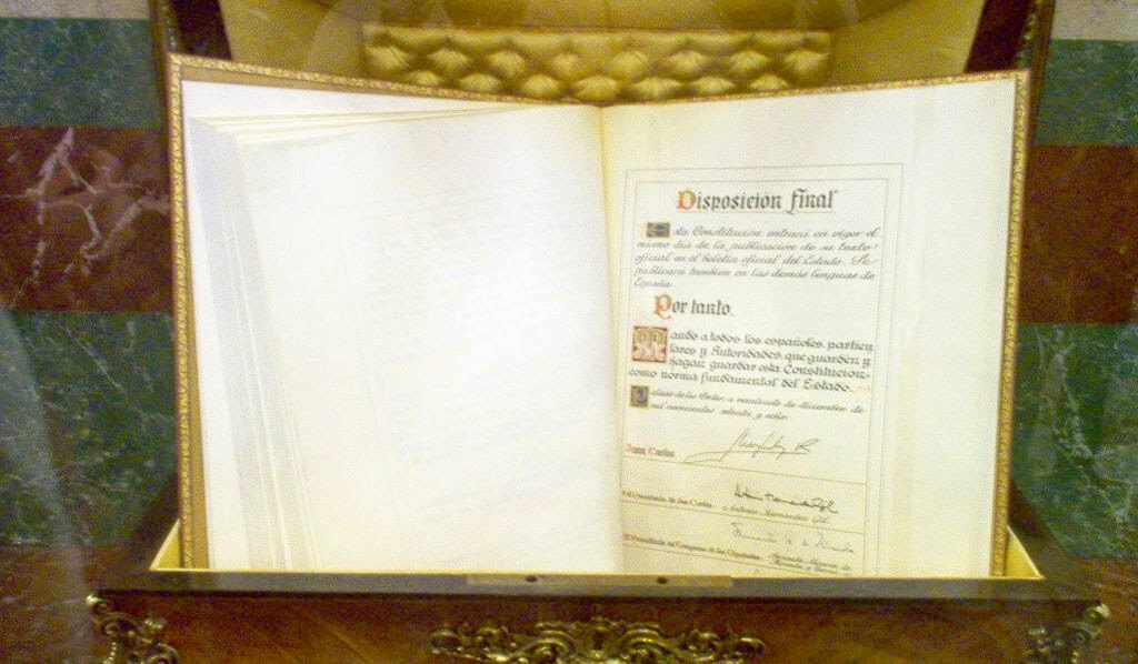 Constitucion en el Congreso de los Diputados