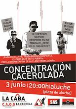 concentración cacerolada 3 junio Aluche