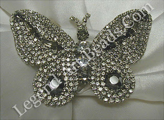 Butterfly Brooch: This butterfly brooch is set with over 150 diamonds.