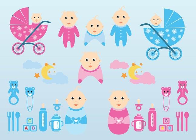 vectores de bebés