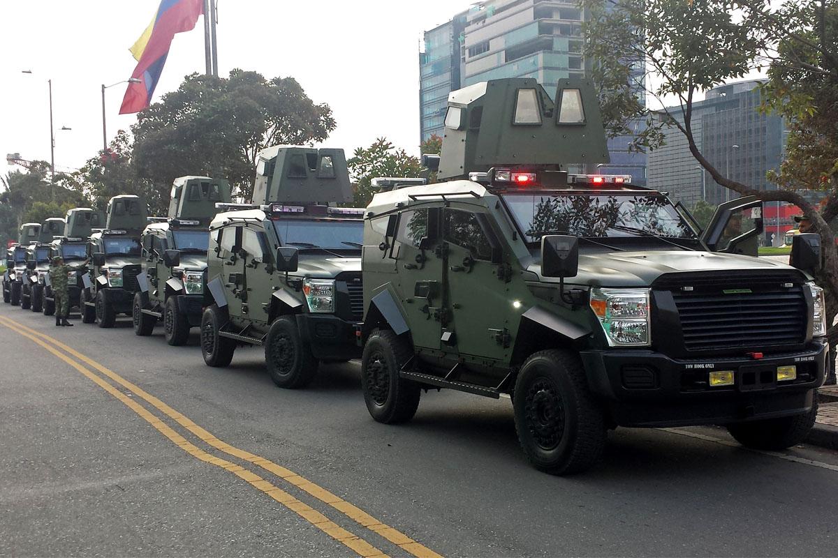 13 nuevos blindados Sandcat destinados al Ejército de Colombia y la Policía de Carreteras protegerán las carreteras del país en sus zonas más vulnerables