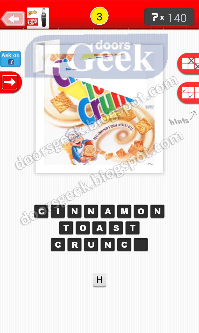 Guess the food level 9 3 answer doors geek for Solution wordbrain cuisine