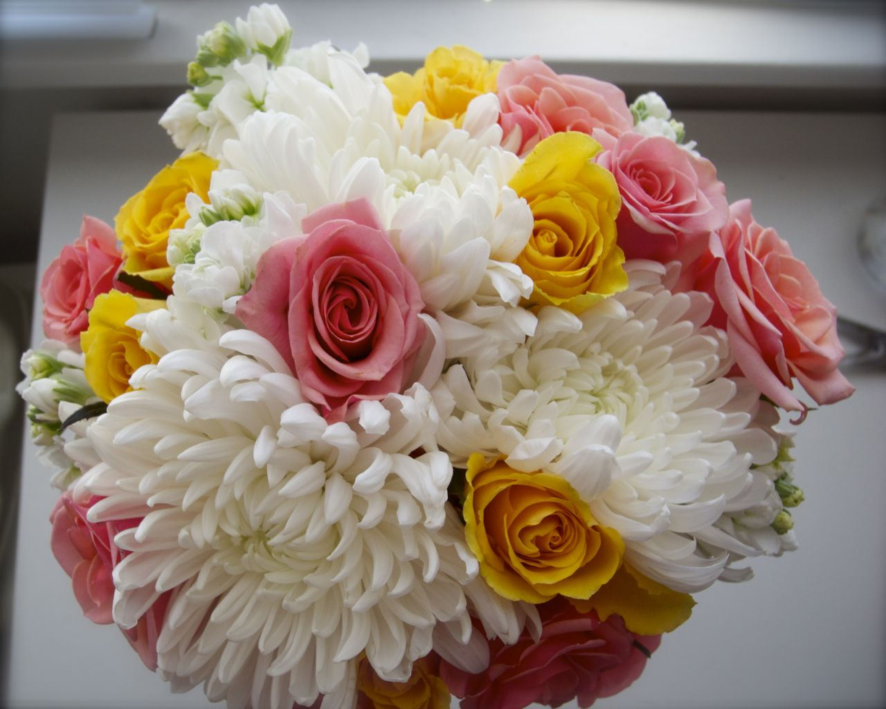 The Flower Girl Blog White Coral And Yellow Bridal Bouquet