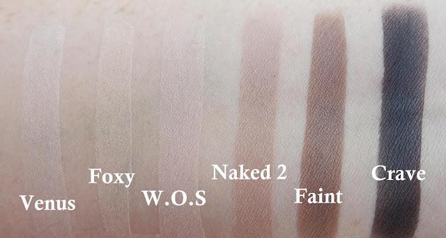 UD Naked Basics swatches