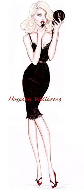 hayden williams fashion illustrator little black dress LBD fashion sketch drawing