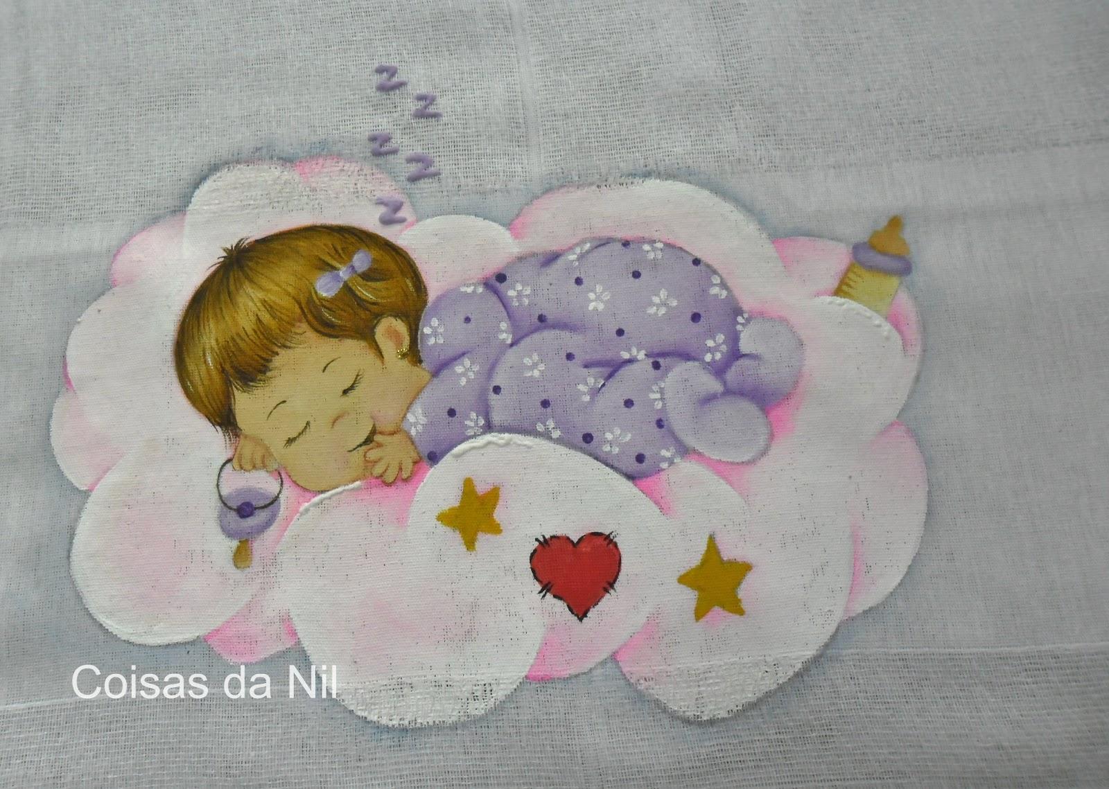 Nilzozo Blogspot   2012 11 Fralda Pintada   Menina Dormindo