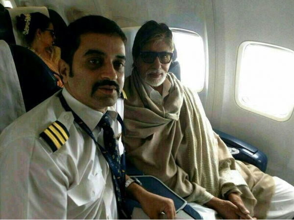 Amitabh Bachchan and Rekha board the same flight
