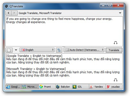 [Software] - QTranslate is a free translator support by many translation services 4