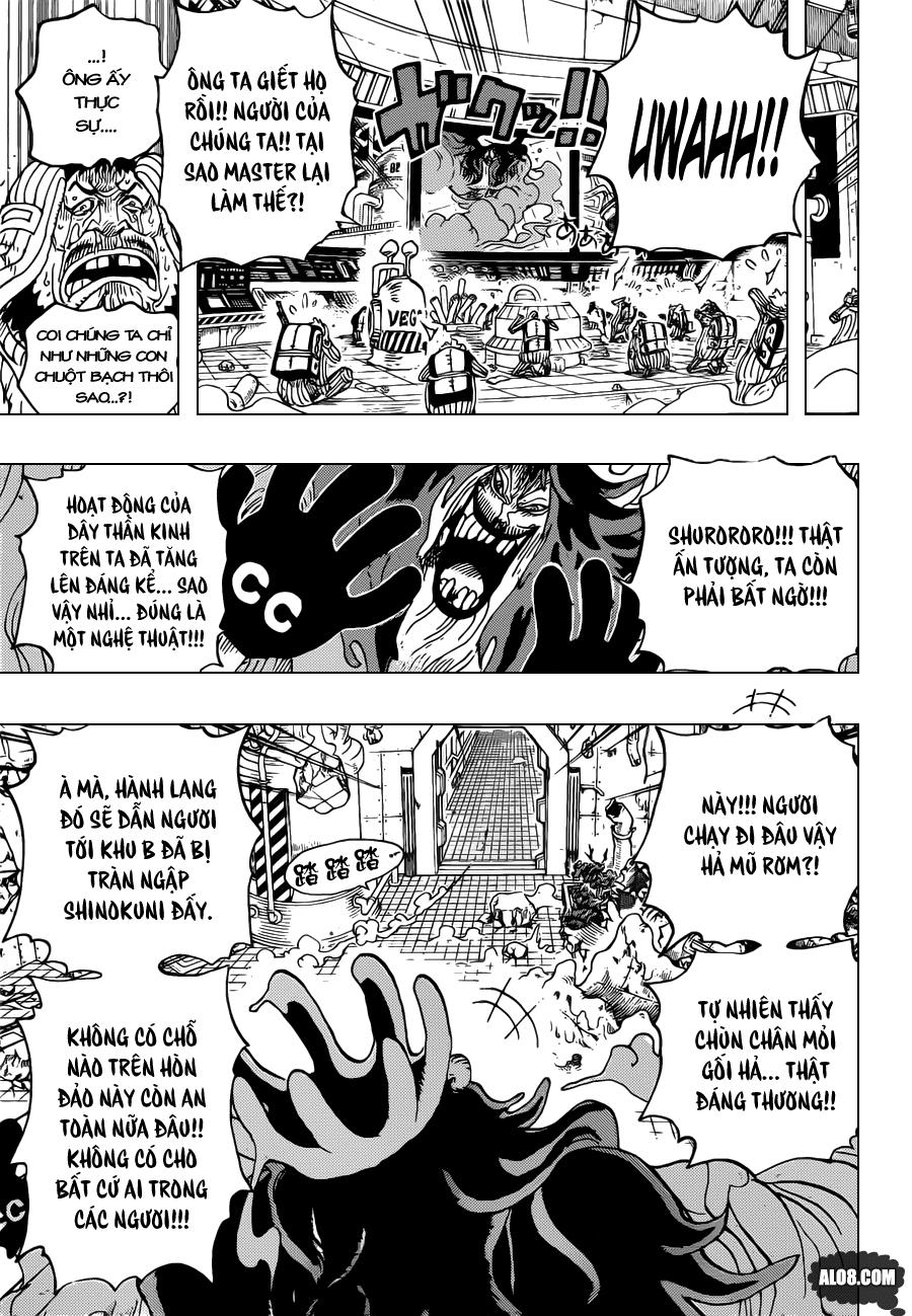 One Piece Chapter 691: Vị vua của vùng đất chết 014