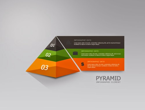 Photoshop Tutorial Graphic Design Infographic Translucent Pyramid